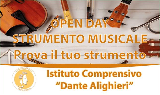 """OPEN DAY STRUMENTO MUSICALE  """"PROVA IL TUO STRUMENTO""""22 SETTEMBRE 2021"""