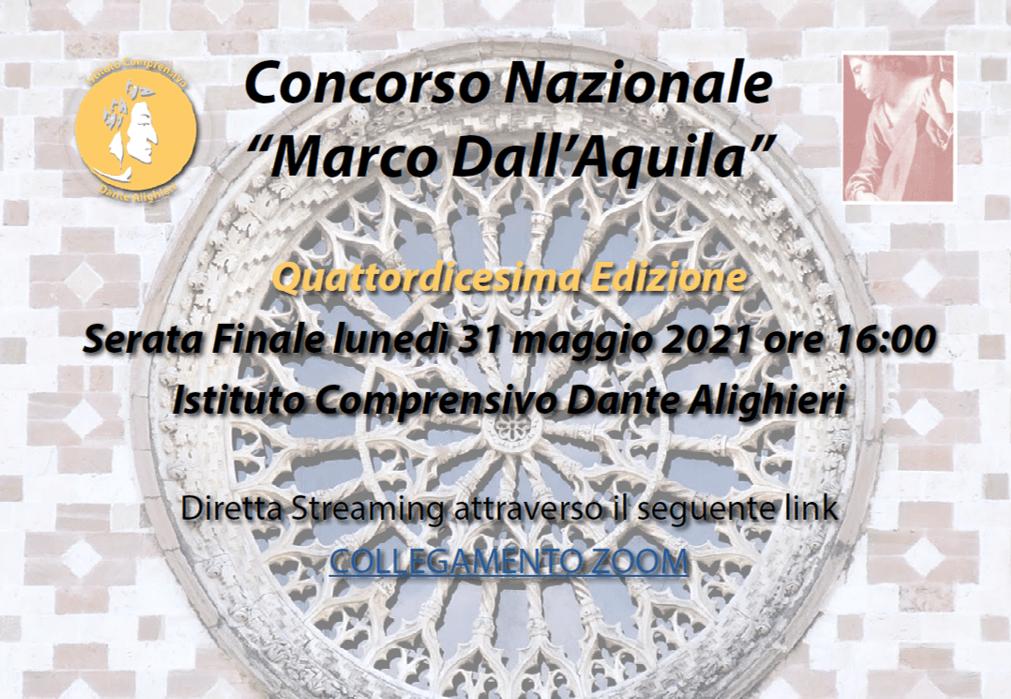 """Concorso Nazionale  XIV Edizione """"MARCO DALL'AQUILA"""""""
