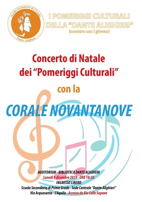 """Concerto di Natale dei """"Pomeriggi Culturali"""""""