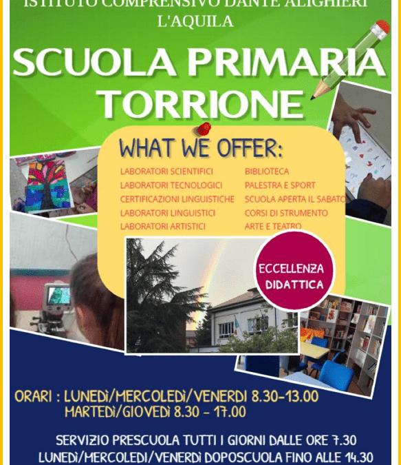 """OPEN DAY """"LA SCUOLA INCONTRA LE FAMIGLIE"""" DELLA SCUOLA PRIMARIA TORRIONE"""